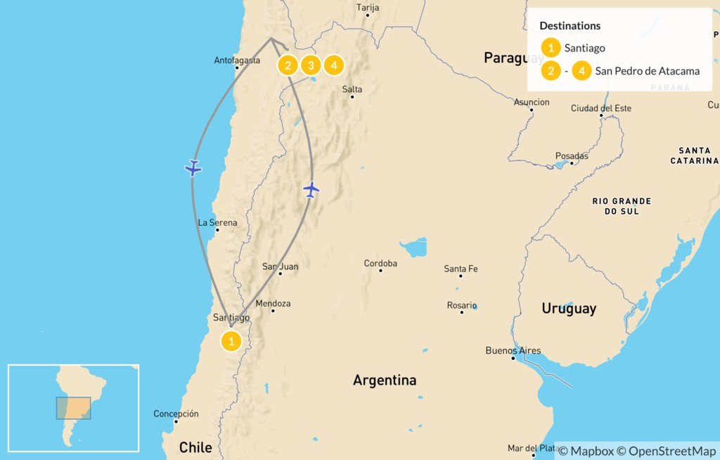 atacama desert on a map Explore The Atacama Desert 5 Days Kimkim atacama desert on a map