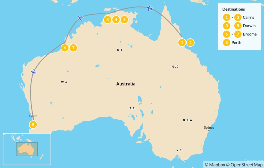 Map of Exploring Northern Australia - 9 Days