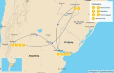 Map thumbnail of Buenos Aires, Mendoza, & Iguazú - 11 Days