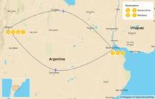 Map thumbnail of Buenos Aires & Mendoza - 8 Days