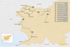 Map thumbnail of Best Walks of Slovenia: Ljubljana, the Julian Alps, Goriška Brda & Piran - 9 Days