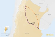 Map thumbnail of How to Get from Buenos Aires to Salta