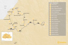 Map thumbnail of  Jumolhari Round Trek and Cultural Tour - 17 Days
