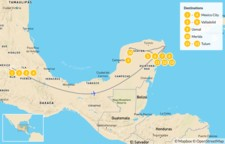 Map thumbnail of Highlights of Mexico: From Mexico City to the Mayan Riviera  - 14 Days