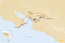 Map thumbnail of How to Get from San José to Playa Montezuma