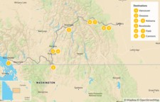 Map thumbnail of Vancouver to Calgary Road Trip: Okanagan Valley & Canadian Rockies - 10 Days