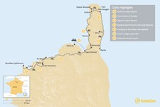 Map thumbnail of Cycling Corsica: 7 Days