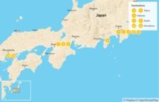 Map thumbnail of Explore Japan: Tokyo, Kyoto, & Hiroshima - 12 Days