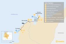 Map thumbnail of Cartagena, Carnival & the Caribbean Coast - 10 Days