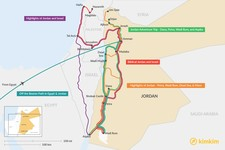 Map thumbnail of 2 Weeks in Jordan - 5 Unique Itinerary Ideas