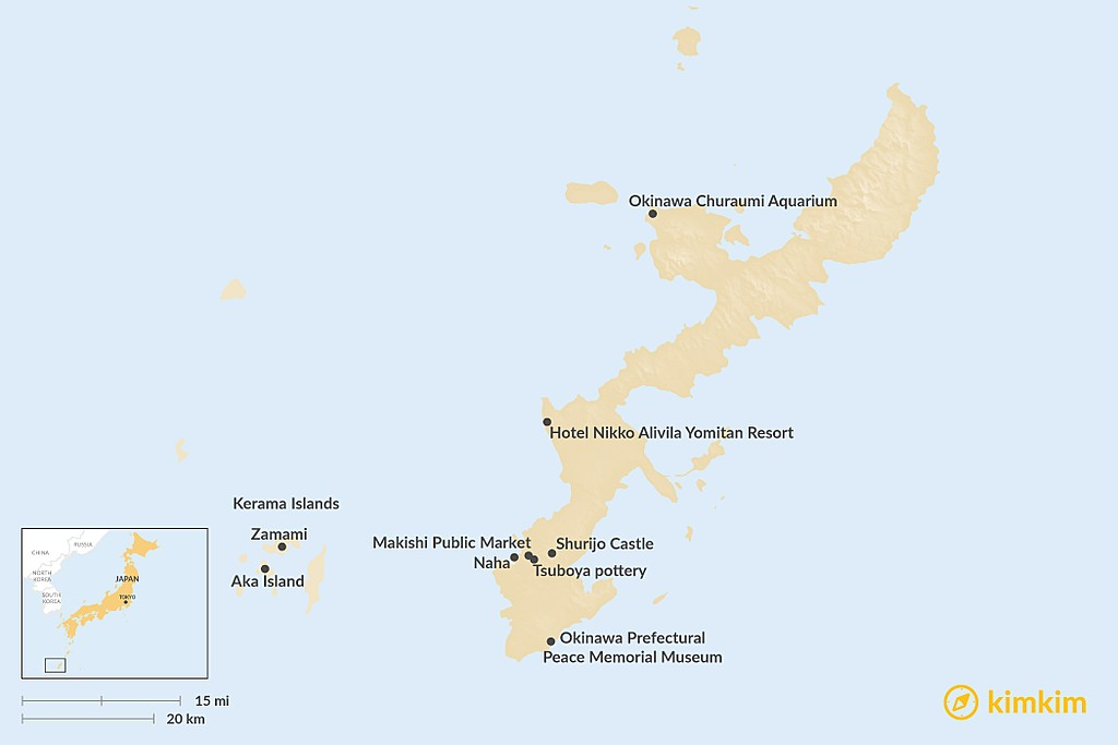 Map of Ultimate Guide to Okinawa