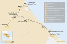 Map thumbnail of Caribbean Coast Adventure Tour - 10 Days