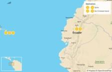 Map thumbnail of Ecuador Highlights: Quito & the Galapagos - 6 Days