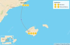 Map thumbnail of Highlights of Barcelona and Mallorca: Cities, Beaches, and Mountains - 8 Days