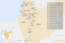 Map thumbnail of Biblical Jordan and Israel: Tel Aviv,  Tiberias, Jerusalem, Amman & More - 14 Days