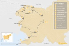 Map thumbnail of Mountain Biking and Hiking in Slovenia: From the Alps to the Adriatic Coast - 13 Days