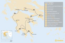 Map thumbnail of Mainland Greece Road Trip - 13 Days