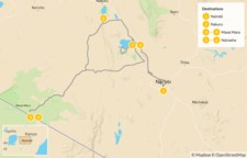 Map thumbnail of Kenya National Park & Wildlife Safari - 7 Days