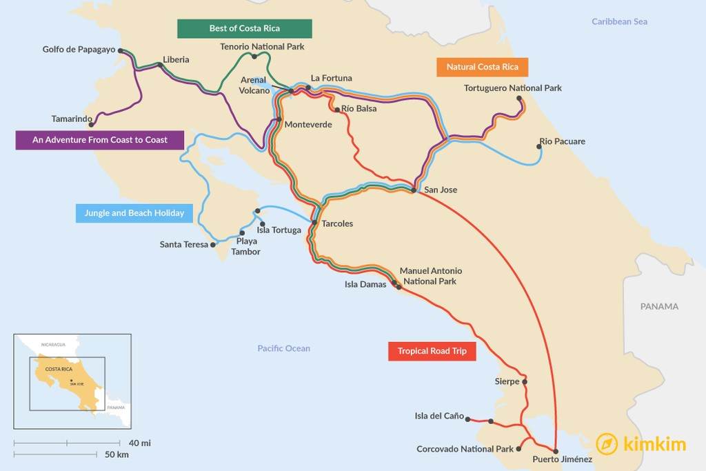 Costa Rica Travel Maps - Maps to help you plan your Costa Rica ...