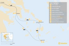 Map thumbnail of Discover Athens, Delphi, & the Cyclades - 10 Days