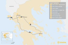 Map thumbnail of Adventurous Athens, Central Greece, and Corfu - 8 Days