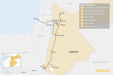 Map thumbnail of Discover Jordan From Tel Aviv - 7 Days