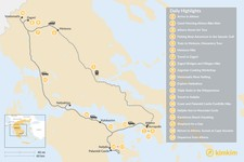 Map thumbnail of Mainland Greece Adventure Trip - 19 Days