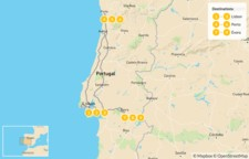 Map thumbnail of Portugal Relaxed Self-Drive: Lisbon, Porto, Évora - 10 Days