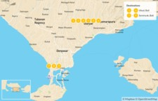 Map thumbnail of Best of Bali: Ubud, Seminyak, & Nusa Lembongan - 10 Days