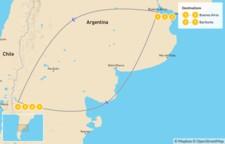 Map thumbnail of Argentina Ski Adventure - 8 Days