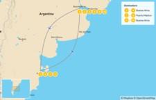 Map thumbnail of Exploring Argentina's Cities & Nature - 11 Days