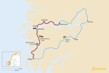 Map thumbnail of How to Get from Bergen to Balestrand