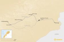 Map thumbnail of How to Get from Merzouga to Aït Benhaddou
