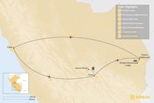 Map thumbnail of Machu Picchu & Amazon Jungle - 7 Days