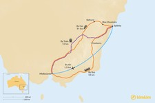 Map thumbnail of How to Get from Sydney to Melbourne
