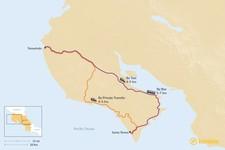Map thumbnail of How to Get from Tamarindo to Santa Teresa