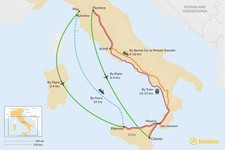 Map thumbnail of How to Get from Tuscany to Sicily