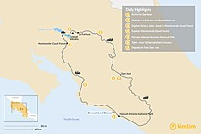 Map thumbnail of Best of Costa Rica in 7 Days: Explore Jungles, Volcanoes and Beaches