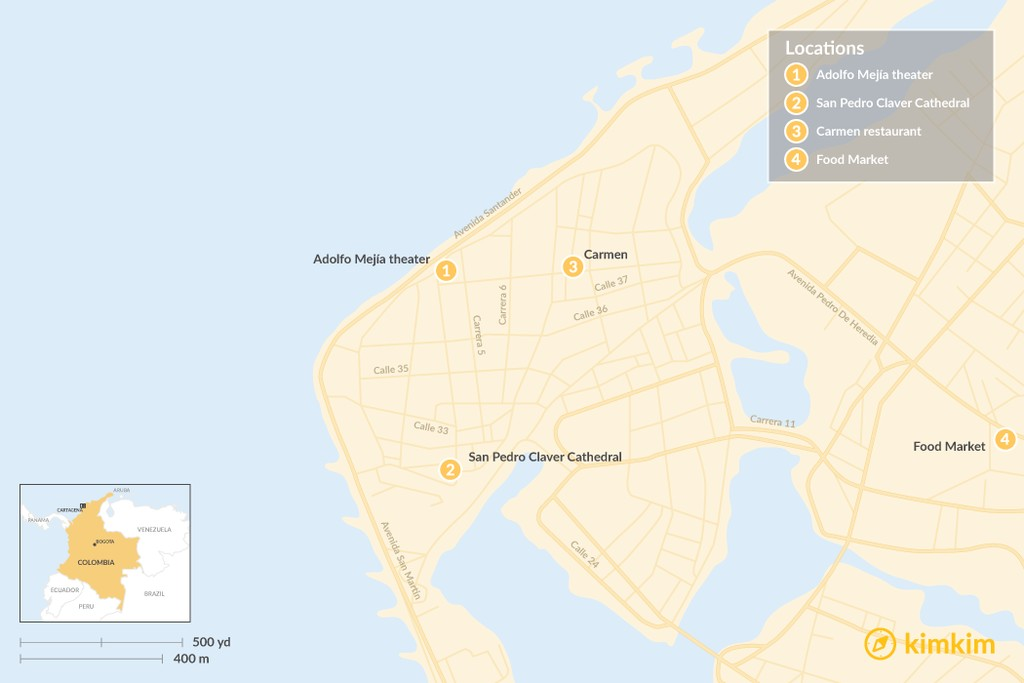 Map of Best of Cartagena - 5-Day Itinerary