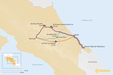 Map thumbnail of How to Get from San José to Puerto Viejo de Talamanca