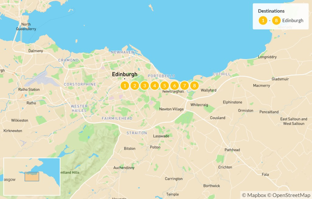 Map of Discover Scotland - 9 Days