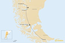 Map thumbnail of How to Get from El Chaltén to Ushuaia