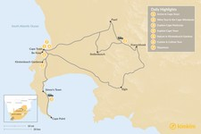 Map thumbnail of Classic South Africa: Cape Town, Winelands, & Cape Point - 7 Days