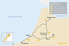 Map thumbnail of Moroccan Cities of the North - 5 Days