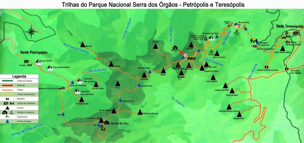 Map of Rio de Janeiro Trek: Pedra do Sino - 2 Days