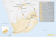 Map thumbnail of Southern Africa Safari: Cape Town, Victoria Falls, Chobe National Park, & More - 15 Days
