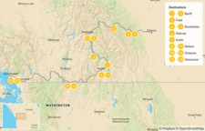 Map thumbnail of Calgary to Vancouver Road Trip: Banff, Revelstoke, Nelson, & Osoyoos - 14 Days