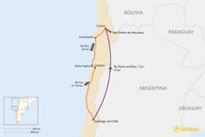 Map thumbnail of How to Get from Santiago to San Pedro de Atacama