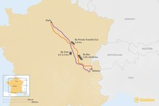 Map thumbnail of How to Get from Paris to Annecy