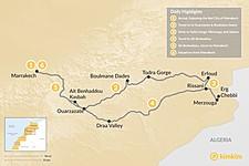 Map thumbnail of Marrakech & Grand Tour of the Sahara Desert - 6 Days